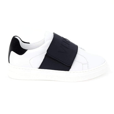 Versace Two-Tone Velcro Sneakers