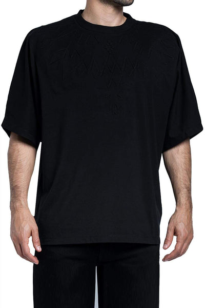 MARCELO BURLON Shoulder-Embossed T-Shirt