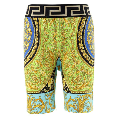 Versace Patterned Cotton Shorts