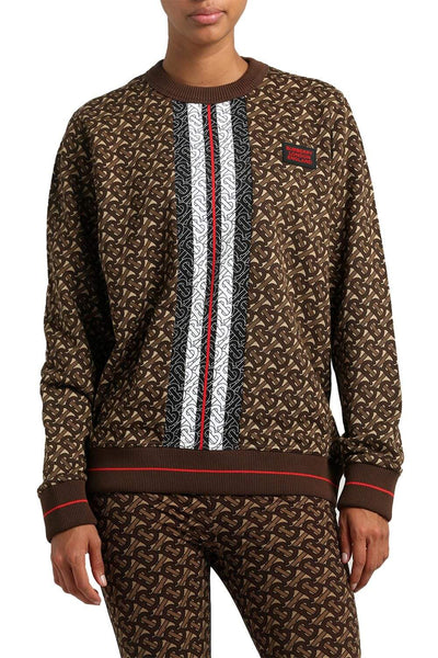 Burberry Monogram Stripe Sweatshirt Brown