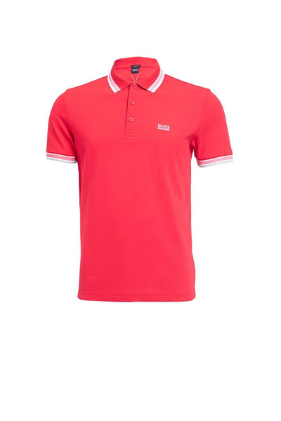 Hugo Boss Red Three Button Placket