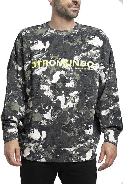 MARCELO BURLON Distressed Camouflage Sweater Multicolored