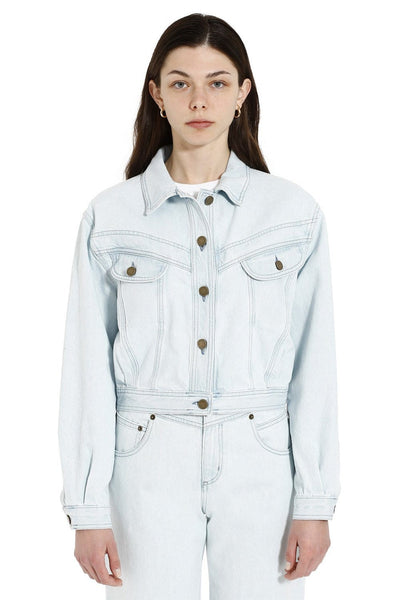 Alberta Ferretti Stone-Washed Denim Jacket
