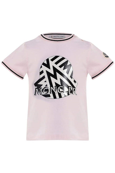 MONCLER KIDS T-SHIRT JERSEY STRETCH PINK