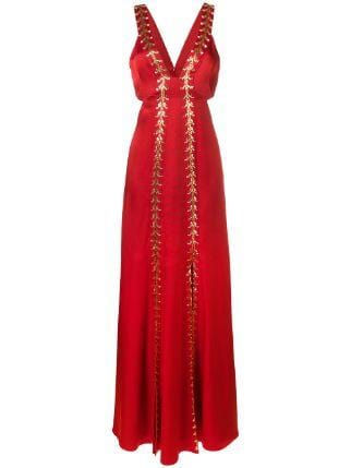 TEMPERLEY NILE EVENING RED DRESS