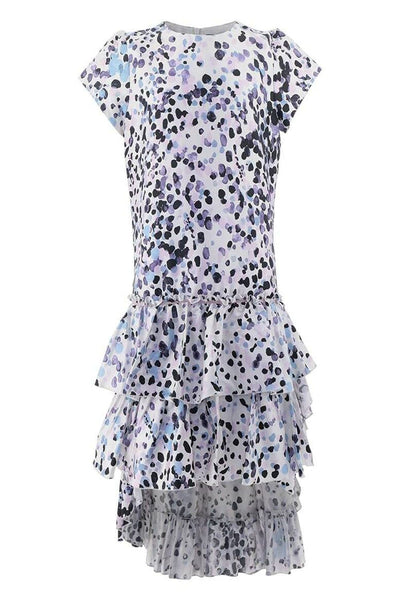 Roberto Cavalli Dot Pattern Ruffle Dress