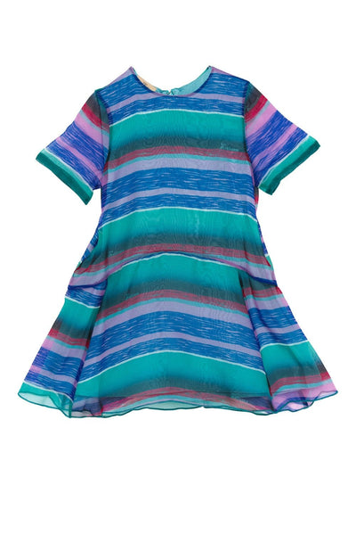 GALL GIRL STRIPES BLUE DRESS
