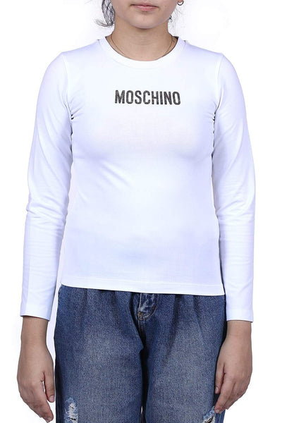 Moschino Kids Long-Sleeved Print Shirt For Girls