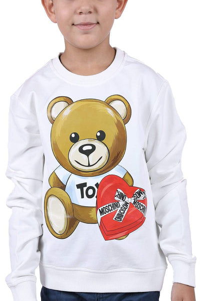 Moschino Kids Long-Sleeved Sweater For Boys