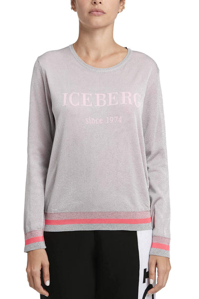Iceberg Printed Cotton Sweater