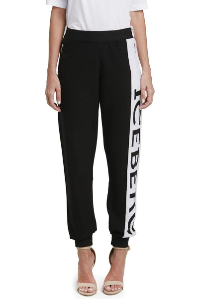 Iceberg Monogrammed Cotton Sweatpants