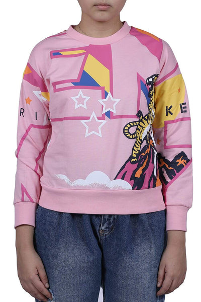 Kenzo Pink Print Kid'S Sweatshirt  For Girls