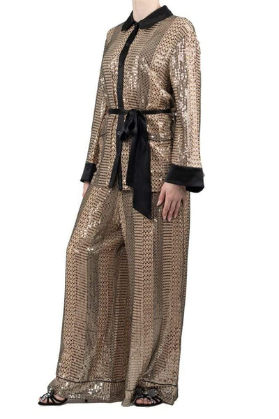 Temperley London Sequined Long Sleeve Top