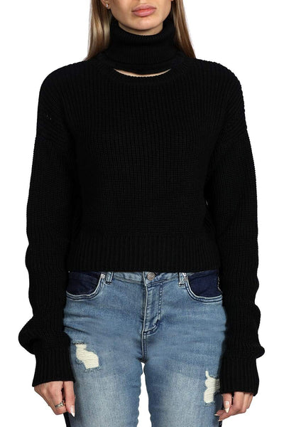 Kendall + Kylie Turtleneck Open Front Knit