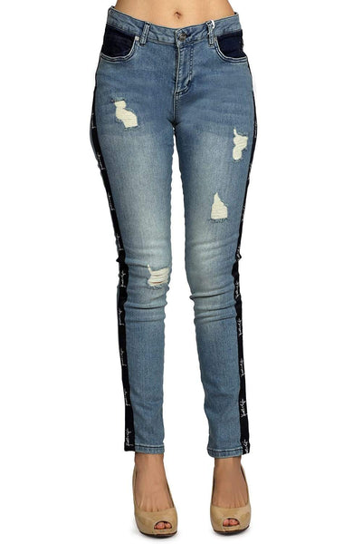 Kendall + Kylie Denim Stripes Jeans