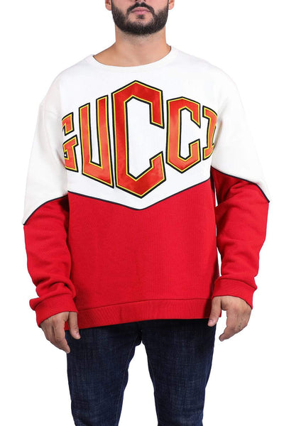 Gucci Cotton sweatshirt with embroidered logo patch