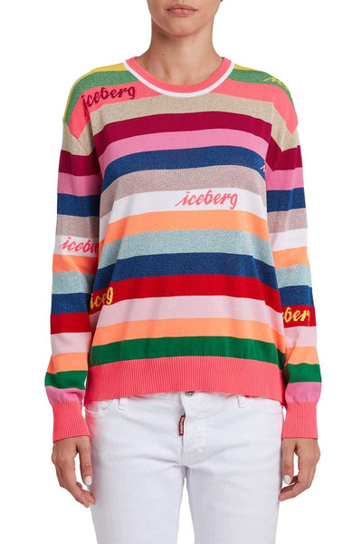 Iceberg Striped Cotton Sweater