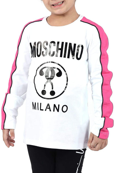 Moschino Kids Long-Sleeved Print T-Shirt For Girls
