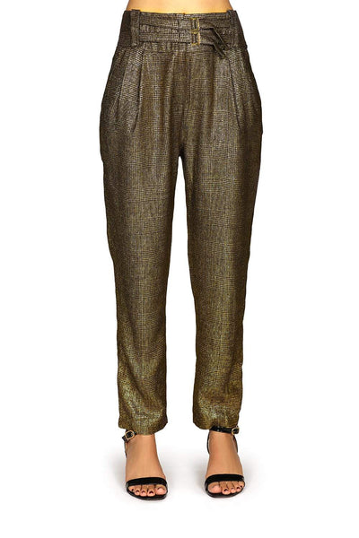 Pinko shimmery gold pants