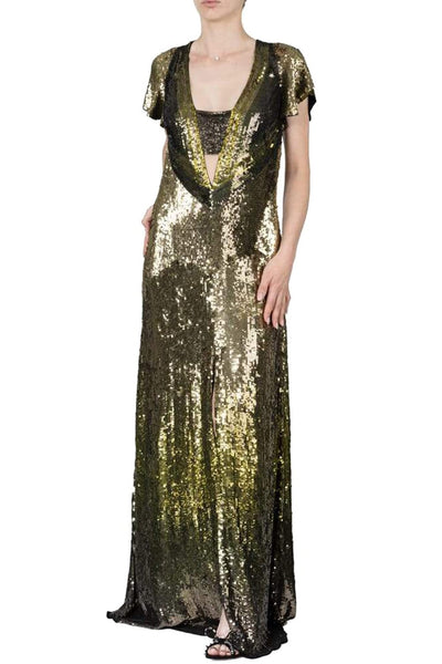 Temperley Sequin Maxi Dress