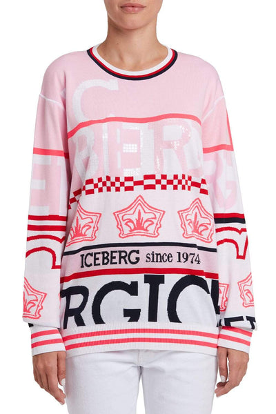 Iceberg Patterned Cotton Sweater