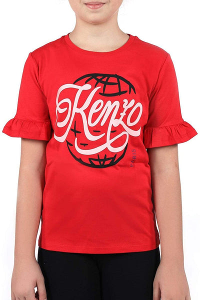 Kenzo Red Kid'S T-Shirt For Girls
