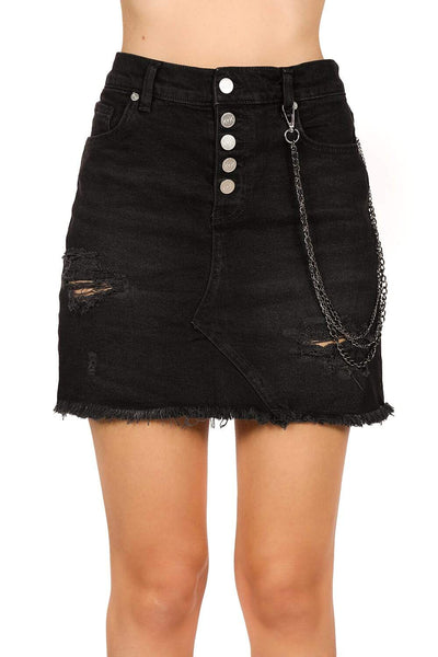 Kendall + Kylie Chain Skirt