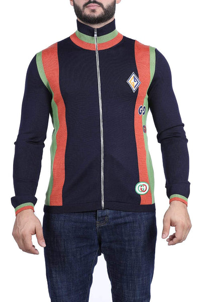 Gucci wool knit jacket with patches