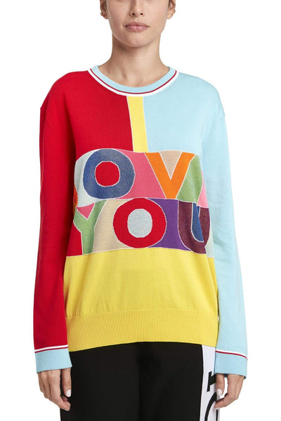 Iceberg Multicolor Cotton Sweater