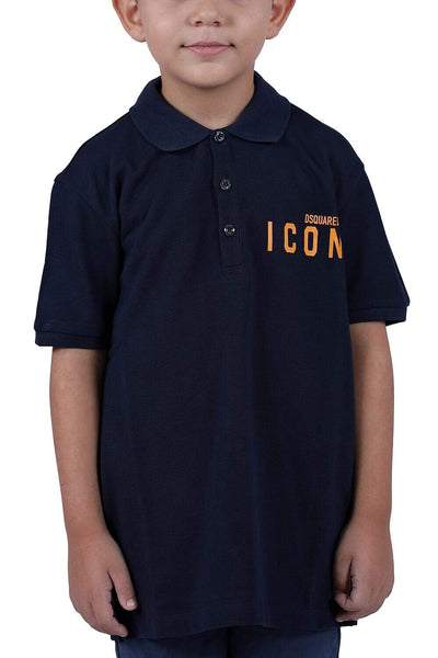 Dsquared2 Navy Polo For Boys