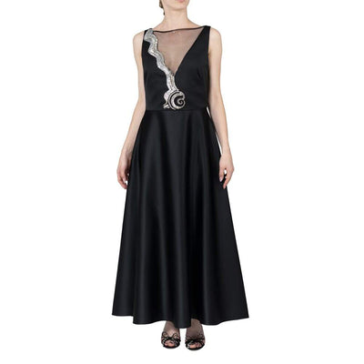 Temperley Maxi Dress with Chiffon Neckline