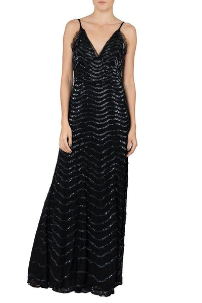 TEMPERLEY PANTHER LACE DRESS
