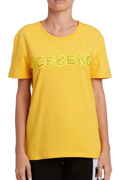 Iceberg Embroidered Sequin T-Shirt