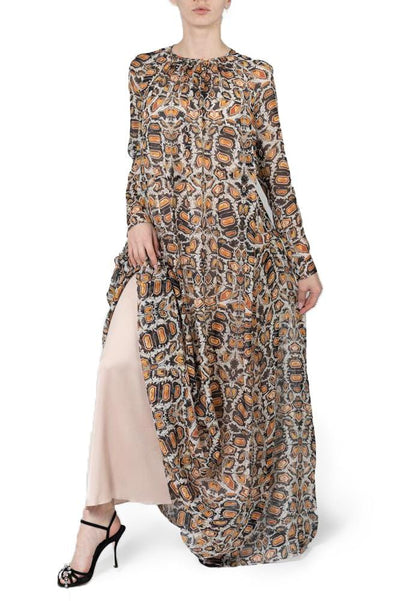 TEMPERLEY QUARTZ PRINTED BOW DRESS