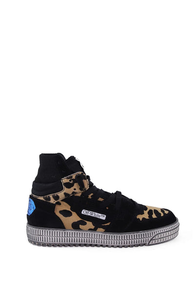 Off White Leopard High Top Sneakers
