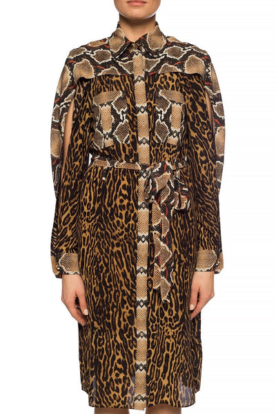 Burberry Animal Print Silk Dress