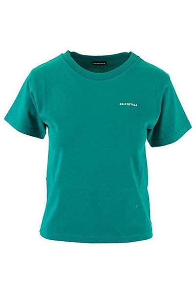 Balenciaga Green Cotton Girls T-Shirt