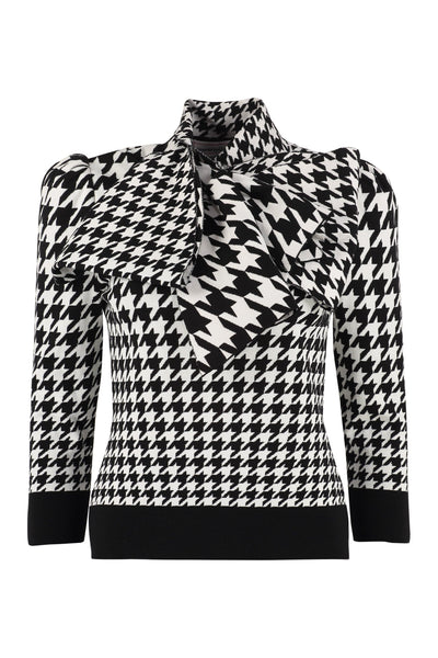 Alexander McQueen Houndstooth Jacquard Pullover