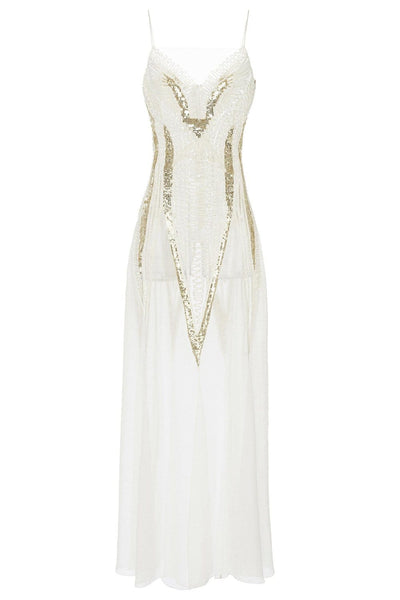 TEMPERLEY MOONDROP LONG DRESS