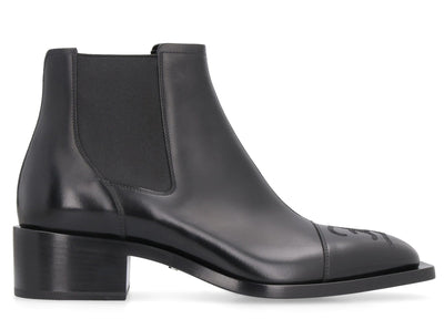 Fendi Pointed-Toe Leather Boots