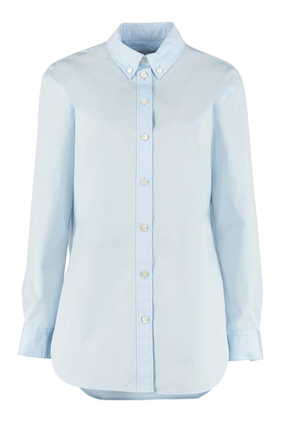 BURBERRY Poplin Button-Down Cotton Shirt