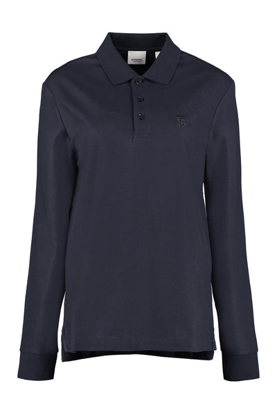 Burberry Sleeved Piqué Polo Shirt