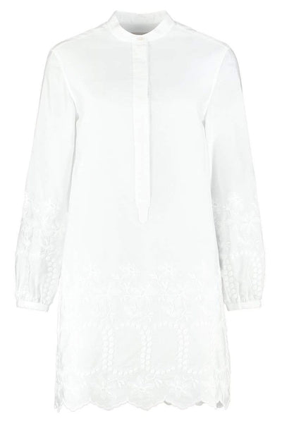 Burberry Embroidered Hem Shirtdress