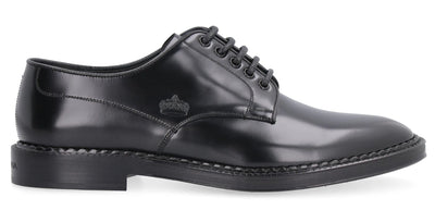 D&G Leather Lace-Up Derby Shoes
