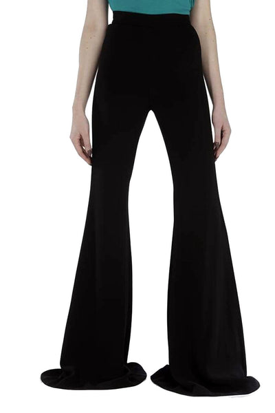 Balmain High-Waisted Flared Pants Black
