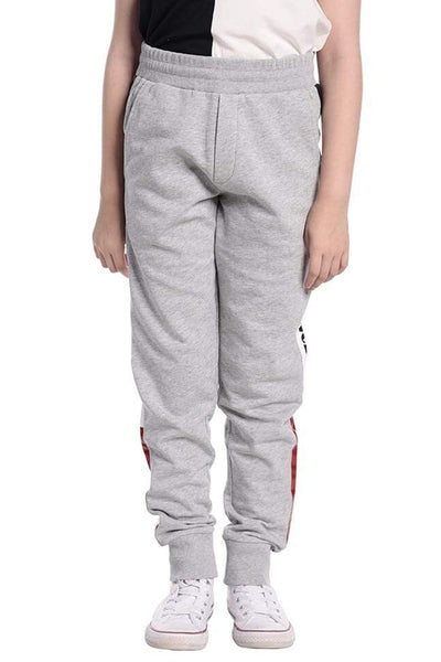 MONCLER KIDS BOTTOM MOLLETON GREY