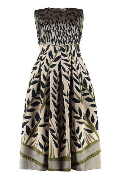 Fendi Ramage Jacquard Midi Dress