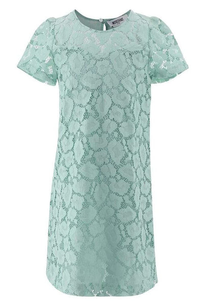 Moschino Aqua Lace Layer Dress