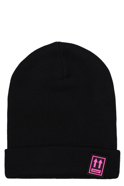 Off-White Patch Detail Beanie