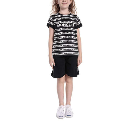 MONCLER KIDS SS T-SHIRT JERSEY STRETCH BLACK
